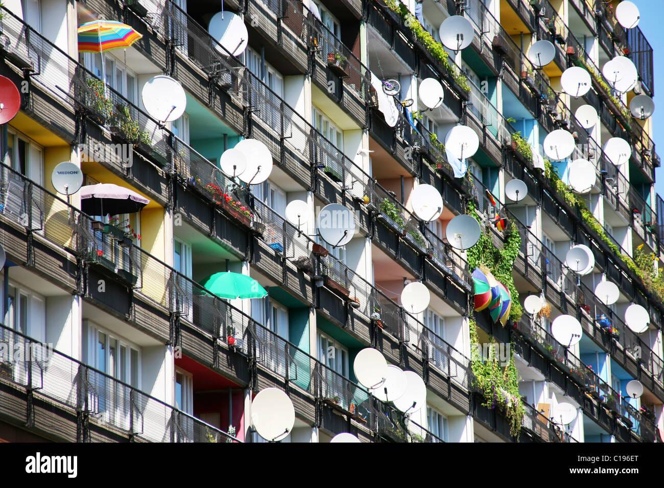 Apartment block, in Pallasstrasse, Berlin, Germany, Europe Stock Photo