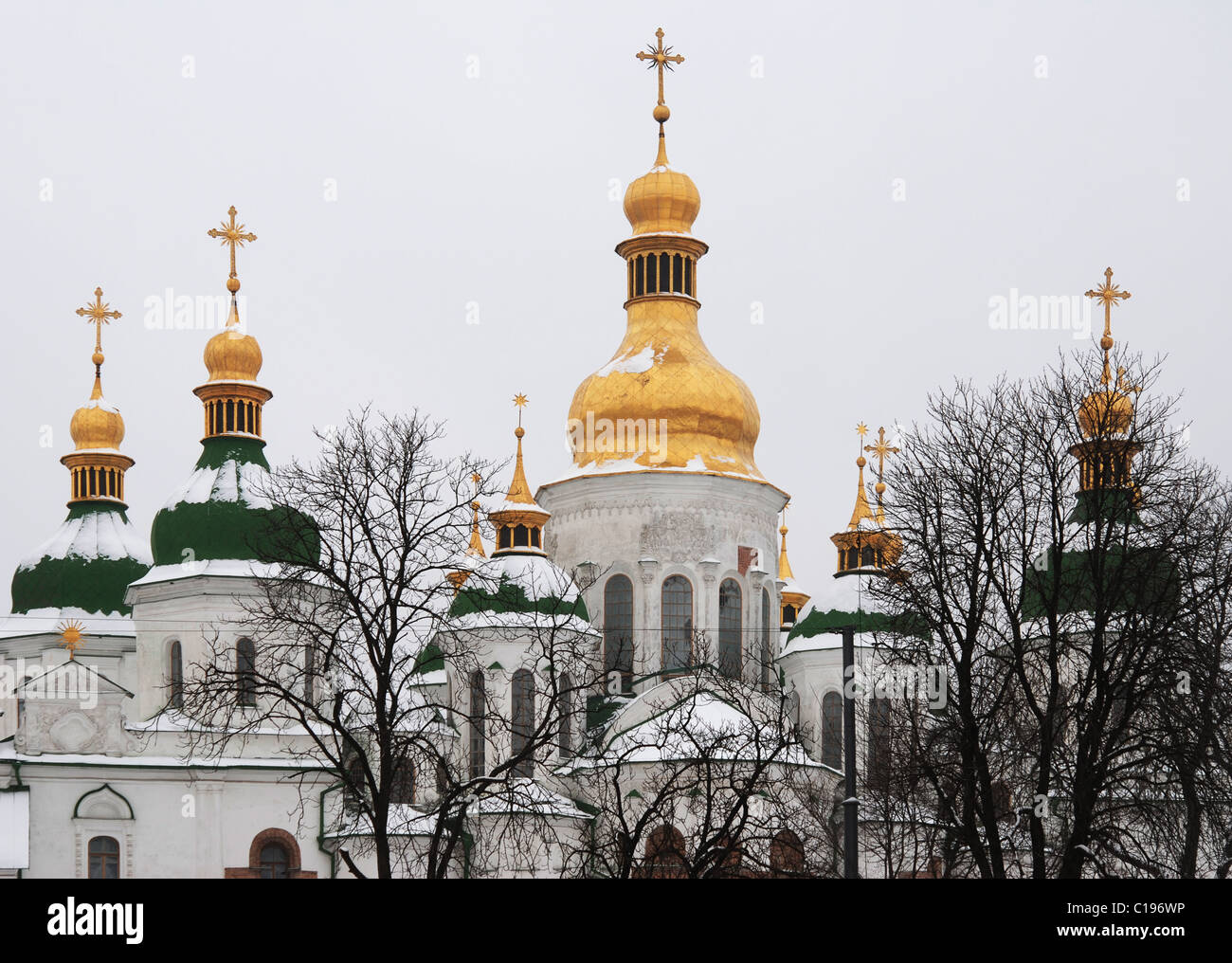 St. Sophia Cathedral in Kiev (1011-1018, reconstruction 1690-1707) - Stock Image
