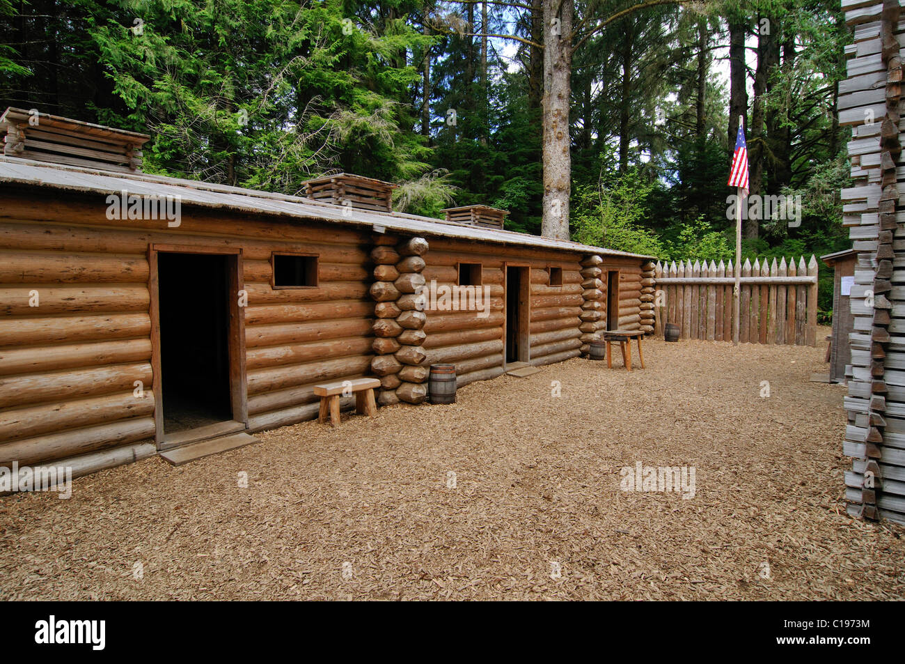 Fort Clatsop By Lewis And Clark Interpretive Canter, Cape Disappointment,  Lewis And Clark National