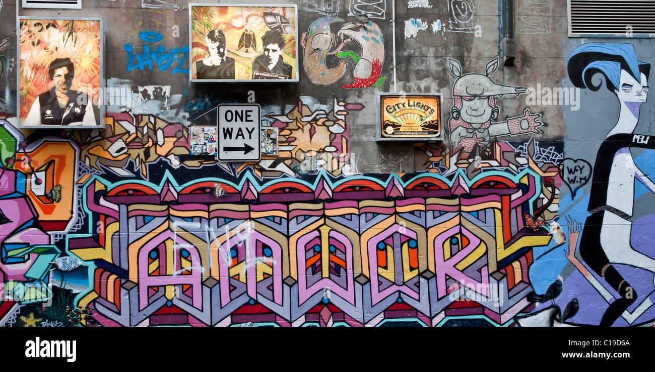 Graffiti Art In One Of The Back Streets Of Melbourne Australia
