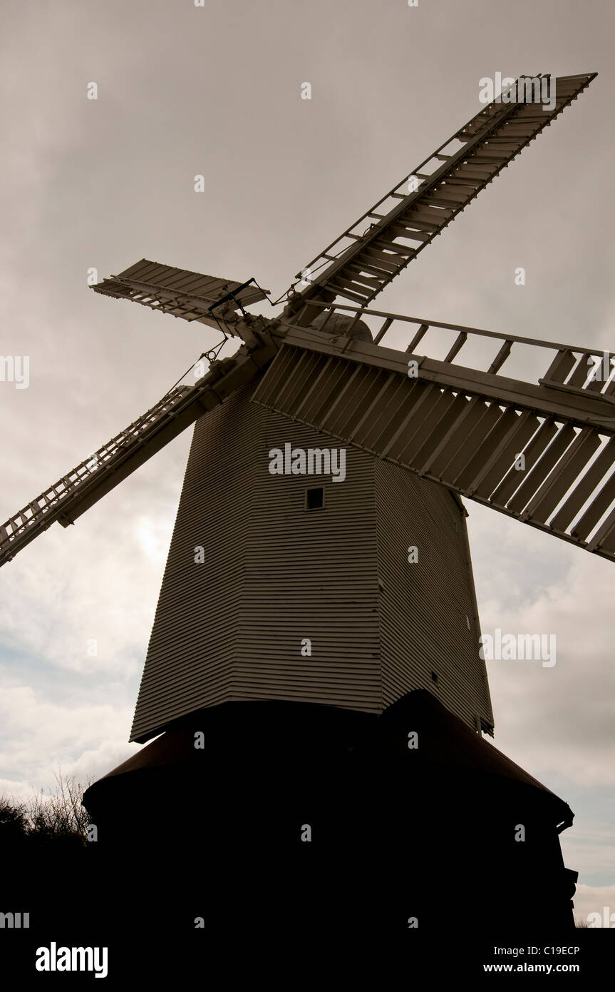 jack and jill windmill,clayton,east sussex,england,uk,europe - Stock Image