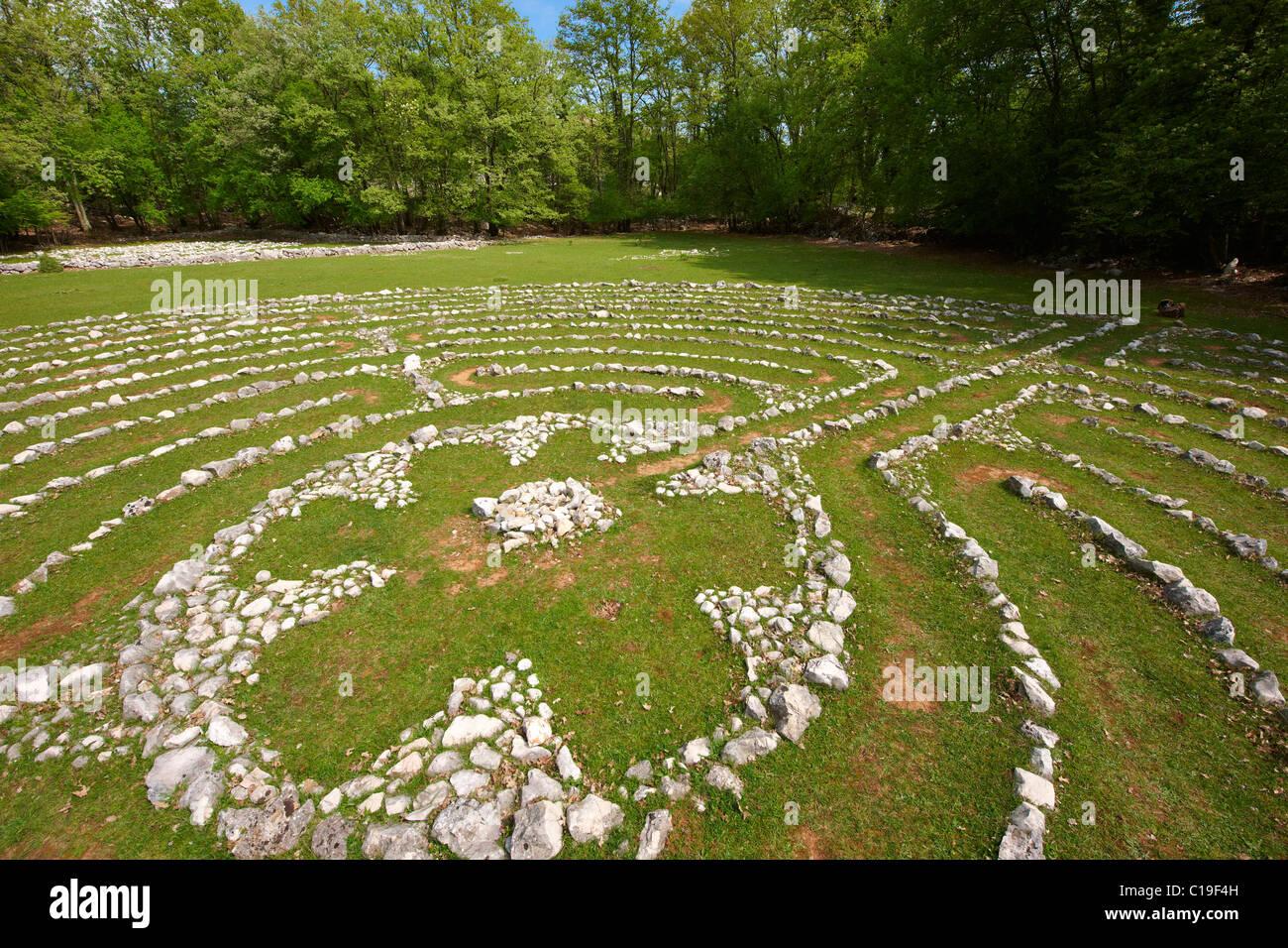 Vesna's Labyrinth - Tramuntana Forest; Cres Island Croatia - Stock Image