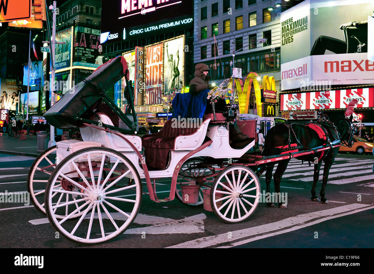 adf5e6c370b Horse Carriage waiting in Times Square
