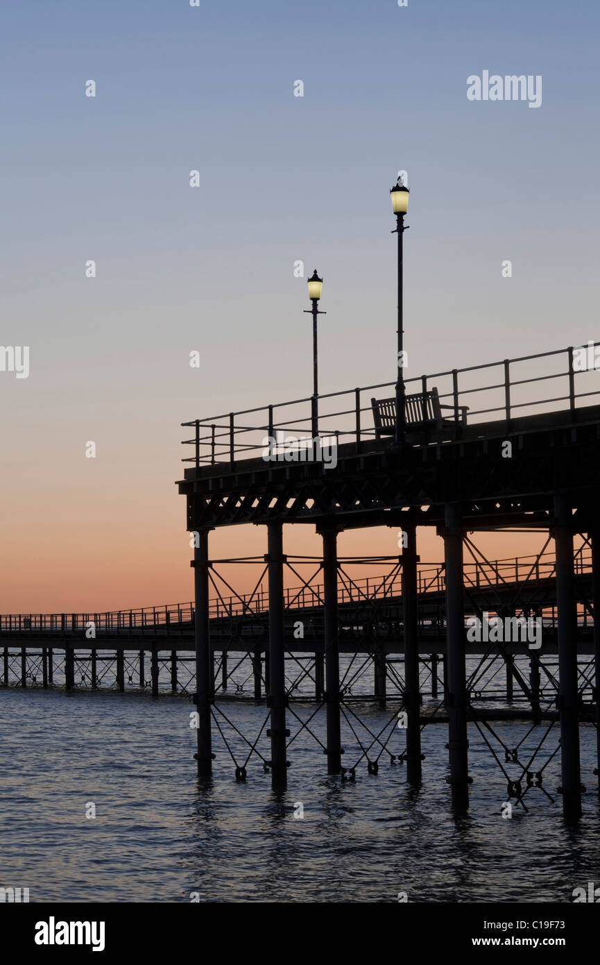 Southend Pier at Dusk - Stock Image