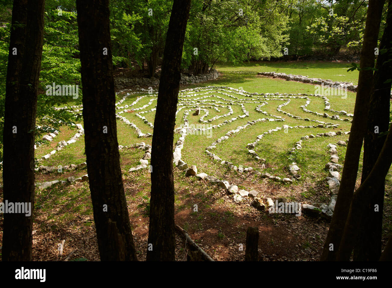 Isis's Labyrinth in the Tramuntana Forest, Cres Island Croatia - Stock Image