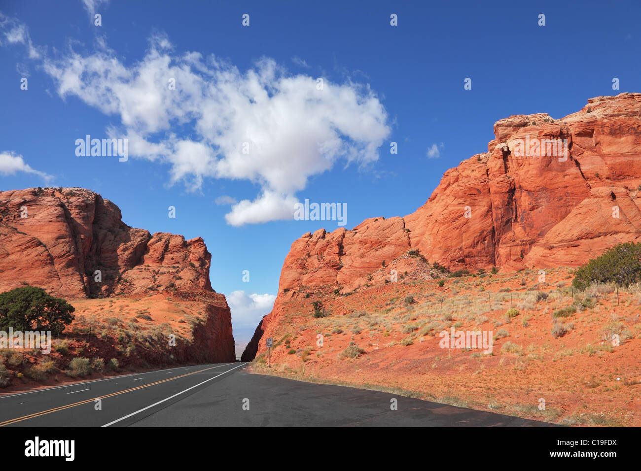 Magnificent American road - Stock Image
