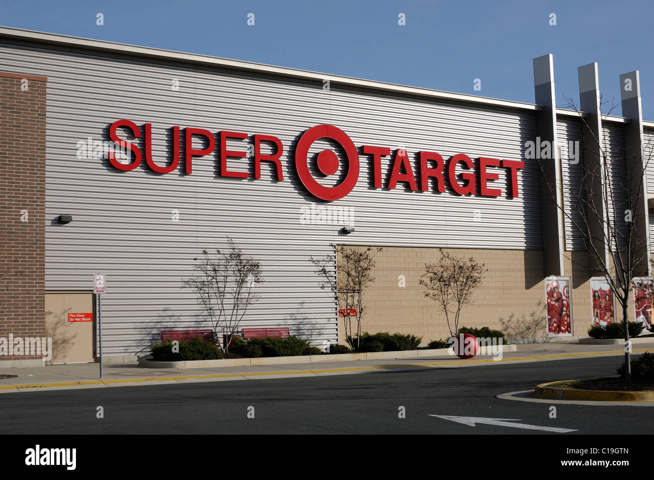 Super Target Retail Store With Logo