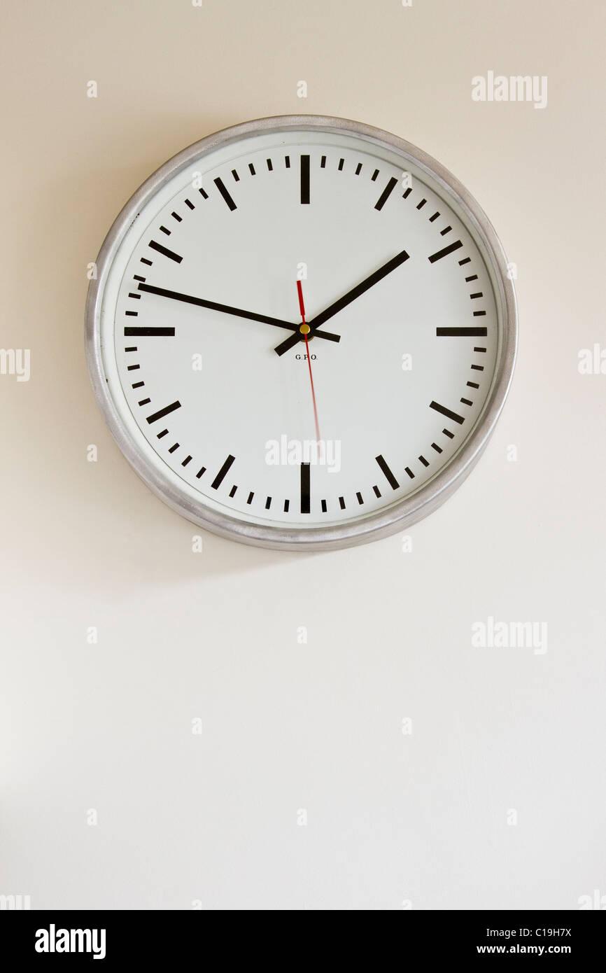 A modern clock - Stock Image