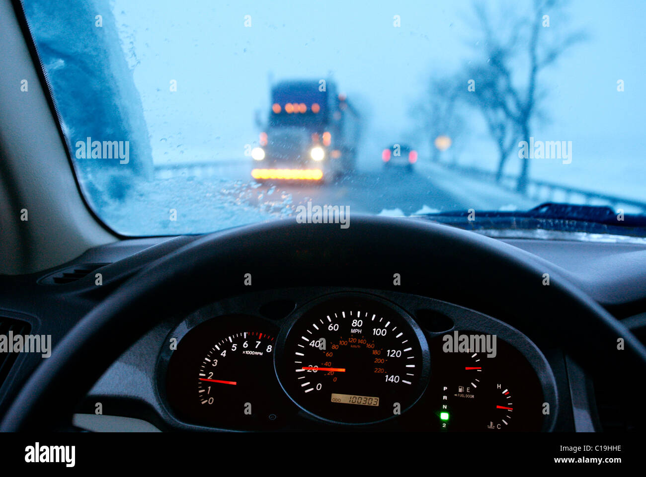Dangerous Driving. - Stock Image