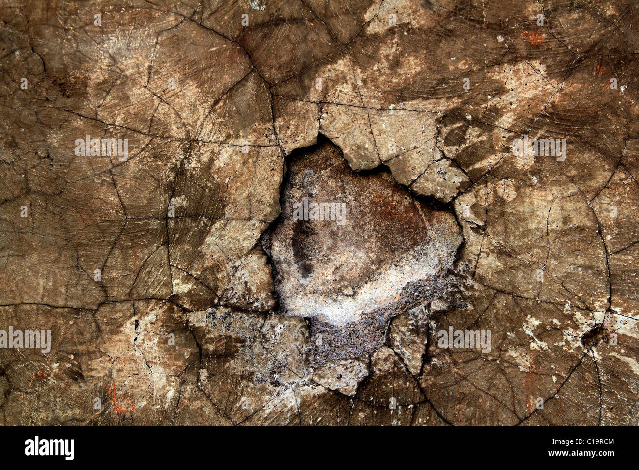 aged wall texture grunge broken weathered cement stucco background - Stock Image