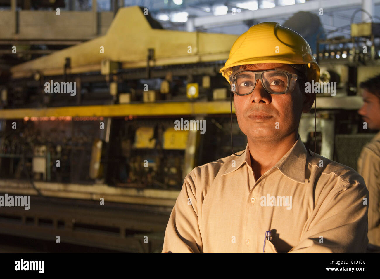 Portrait of a male engineer in a factory, Surya Roshni Limited, Gwalior, Madhya Pradesh, India - Stock Image