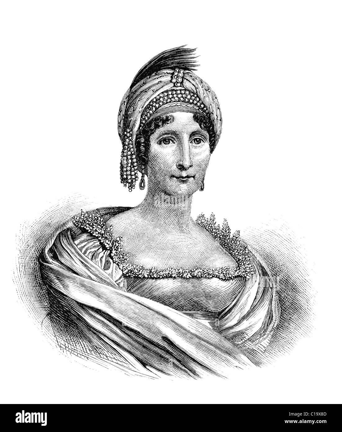 Nobile Maria Letizia Buonaparte was the mother of Napoleon I of France. Stock Photo