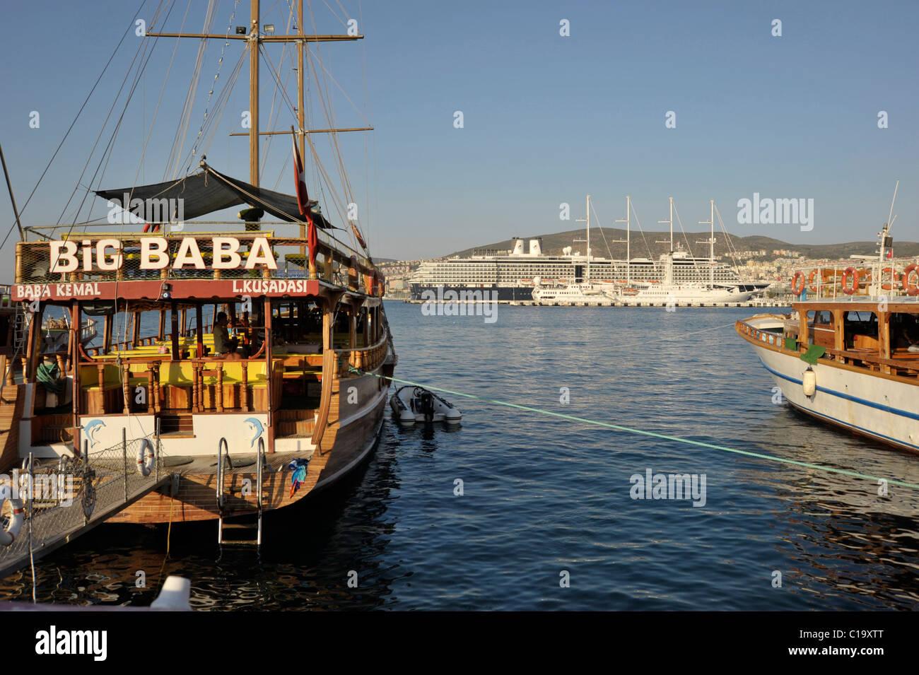 View to the harbour of Kusadasi, Turkey 2009. - Stock Image