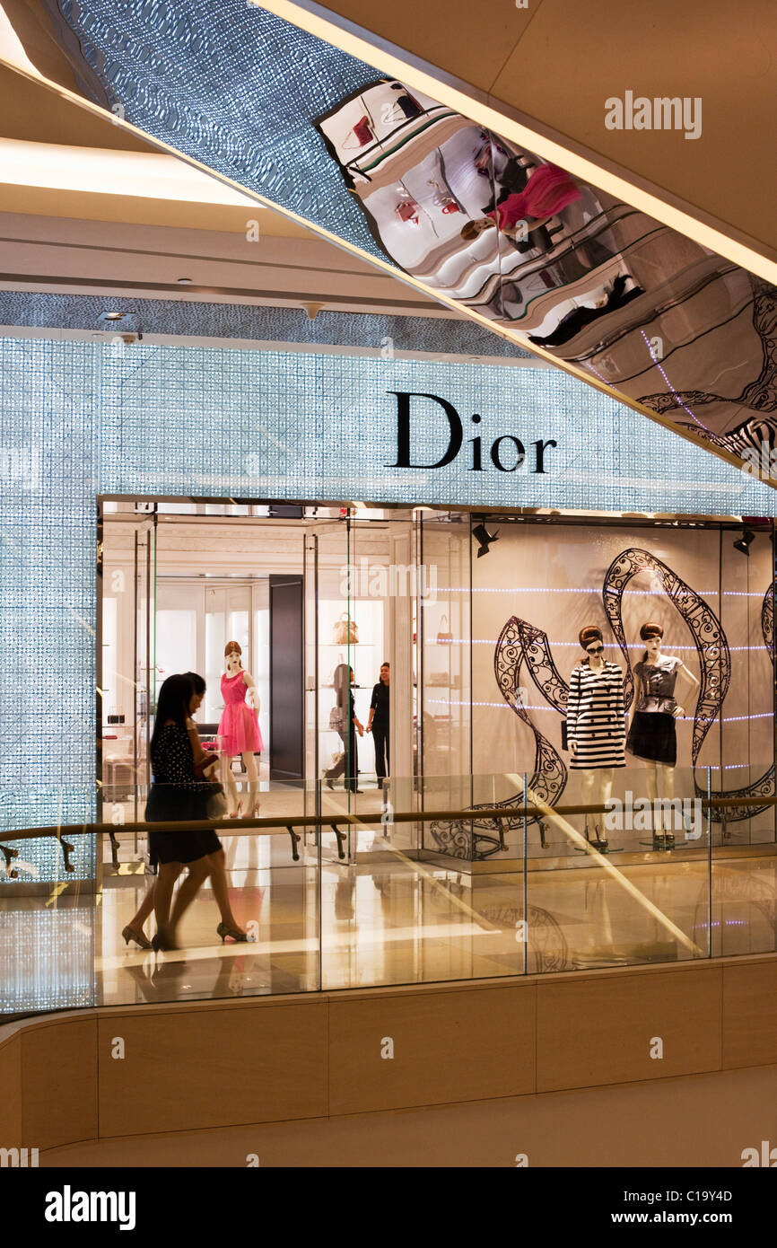 Dior boutique in the ION Ochard Mall, Orchard Road, Singapore - Stock Image