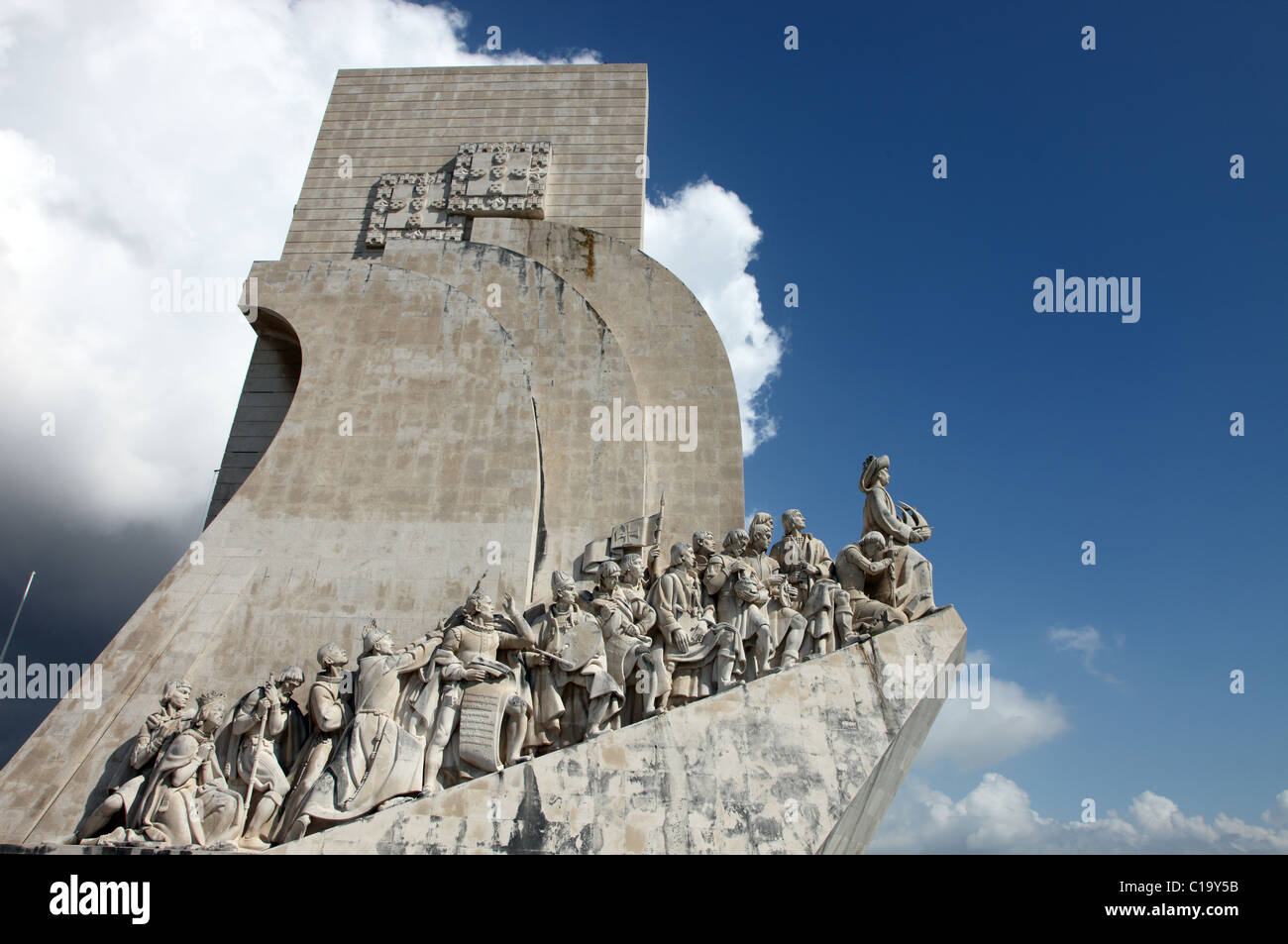 Monument to the Discoveries, Padrao dos Descobrimentos, Belem, Lisbon - Stock Image