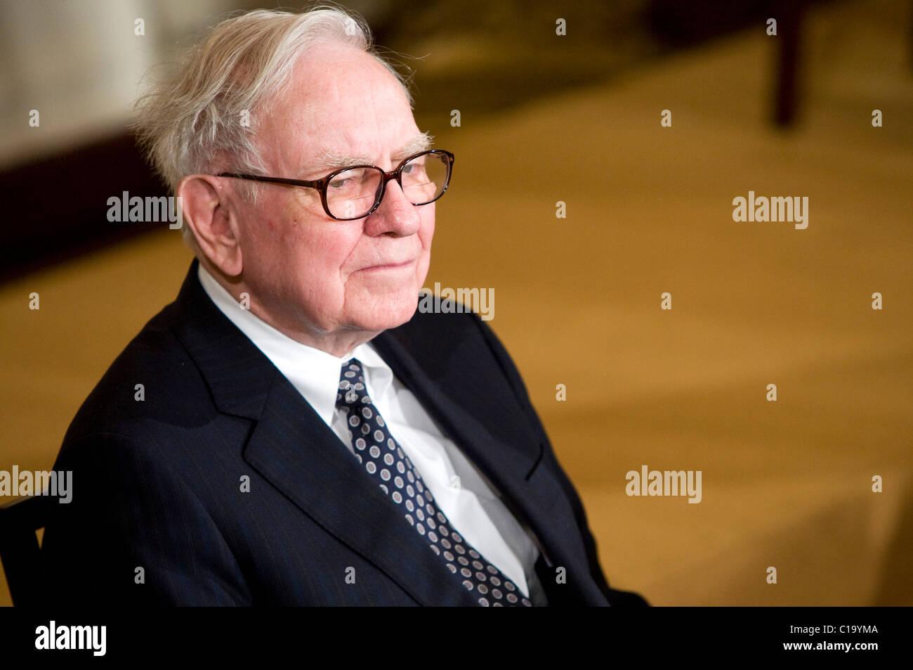 Businessman Warren Buffett. - Stock Image