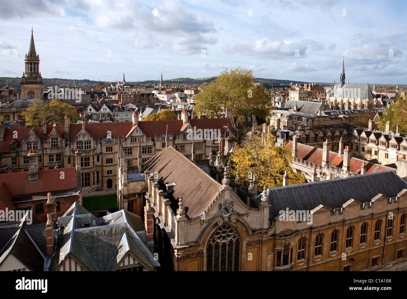 The Exeter and Brasenose College of the Oxford University, Oxfordshire, England, UK - Stock Image