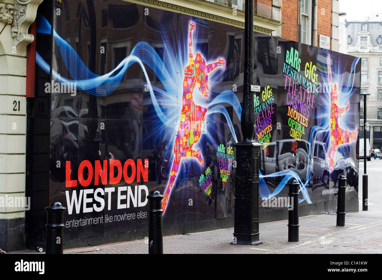 Theater Billboard Advertising London's West End - Stock Image