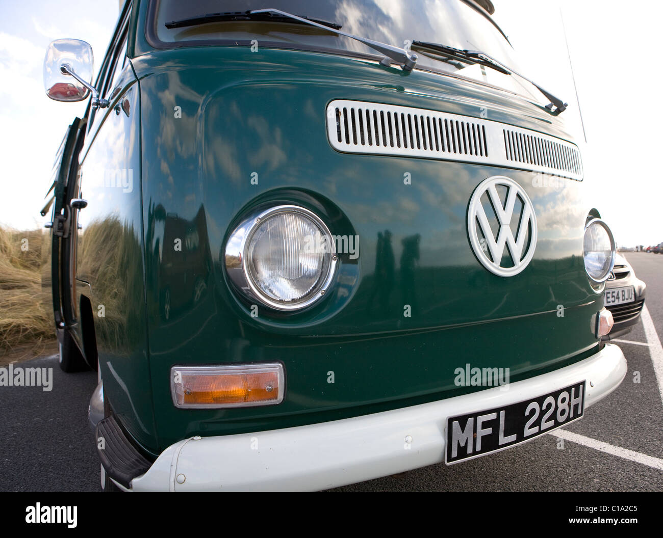 Volkswagen Front Close Up Vintage Vw Camper Van Vehicles Old Stock