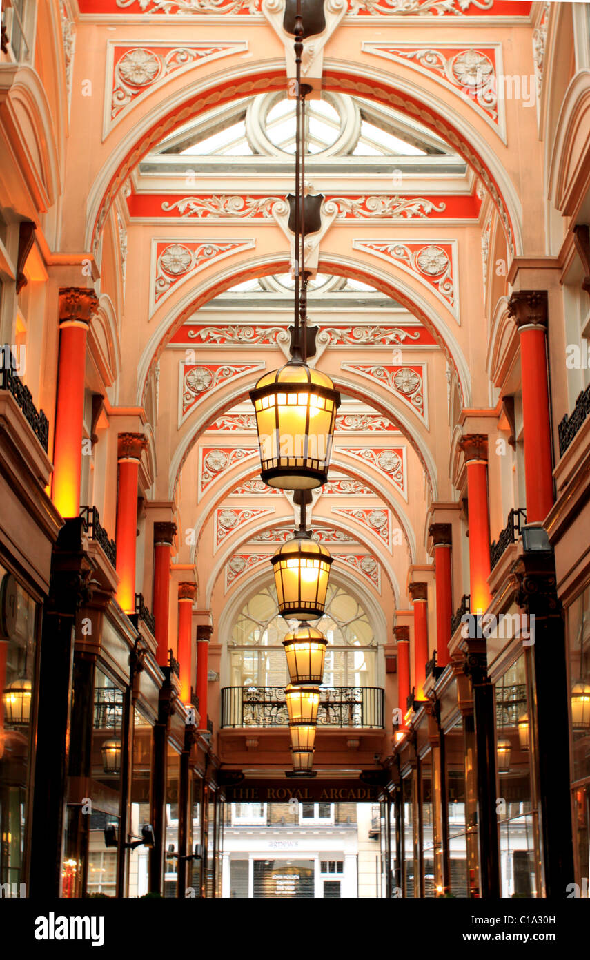 Royal Arcade off of Old Bond Street, Mayfair, London - Stock Image