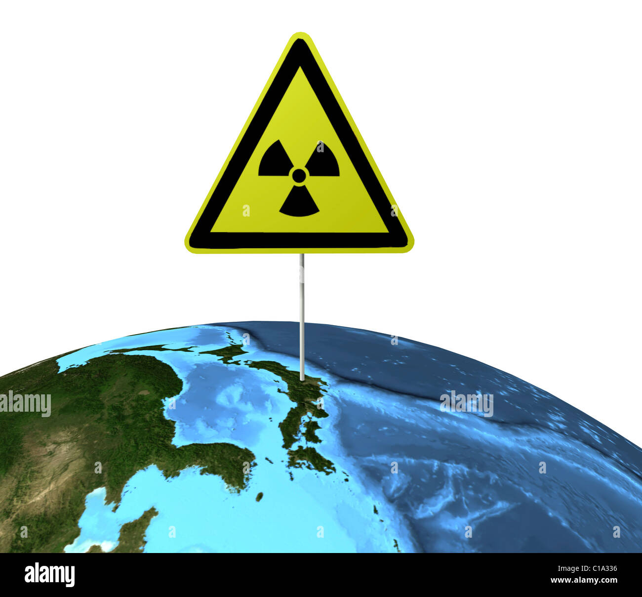 Symbolic image Nuclear disaster march 2011 japan - Stock Image