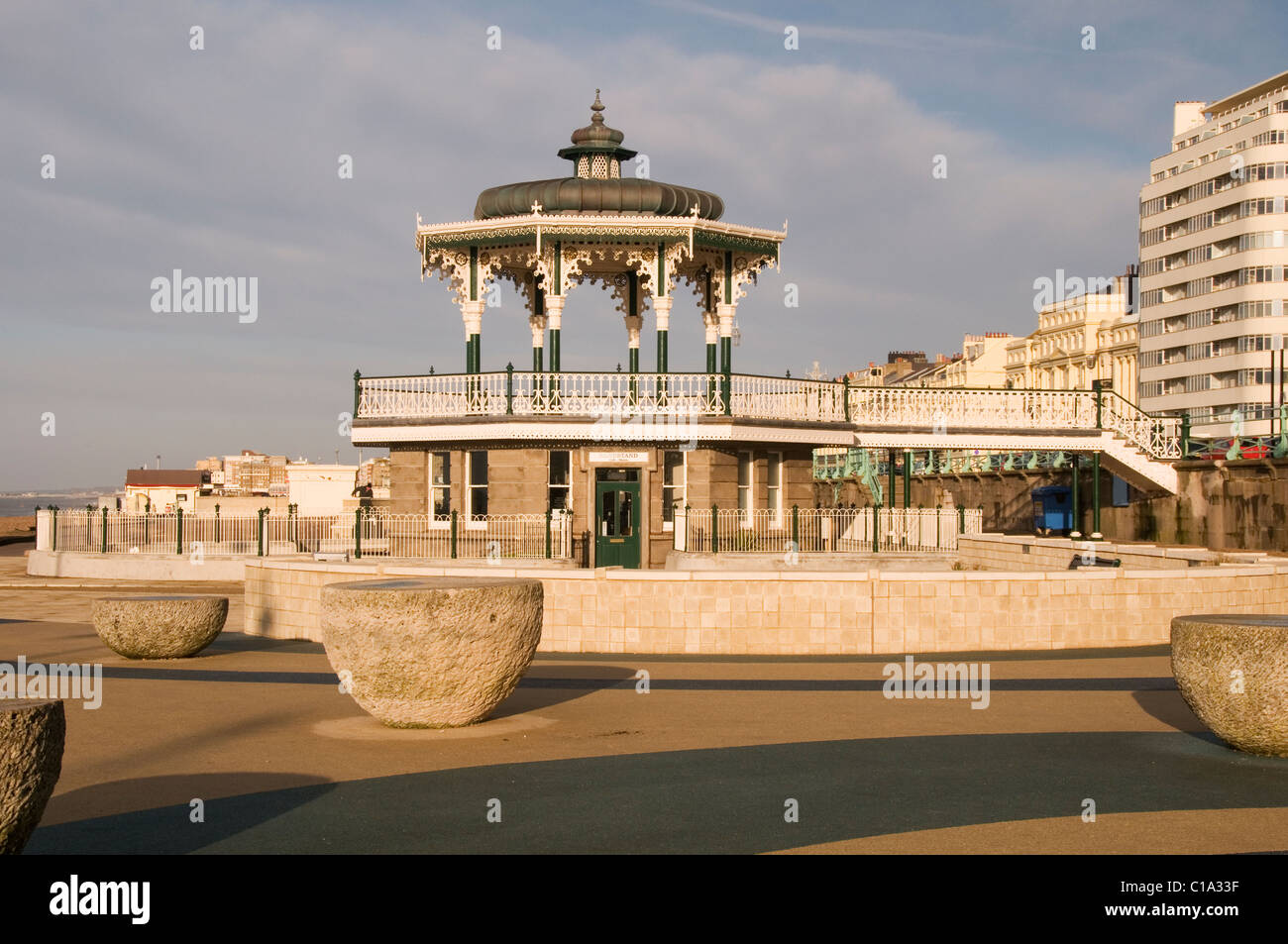 The Bandstand at Brighton Seafront Sussex England - Stock Image