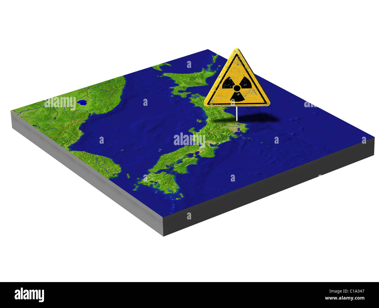 Symbolic image Nuclear disaster march 2011 japan Tokai - Stock Image