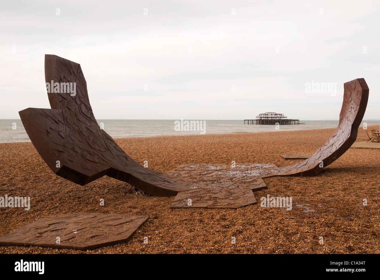 Passacaglia Sculpture Brighton Seafront Brighton Sussex England UK Stock Photo
