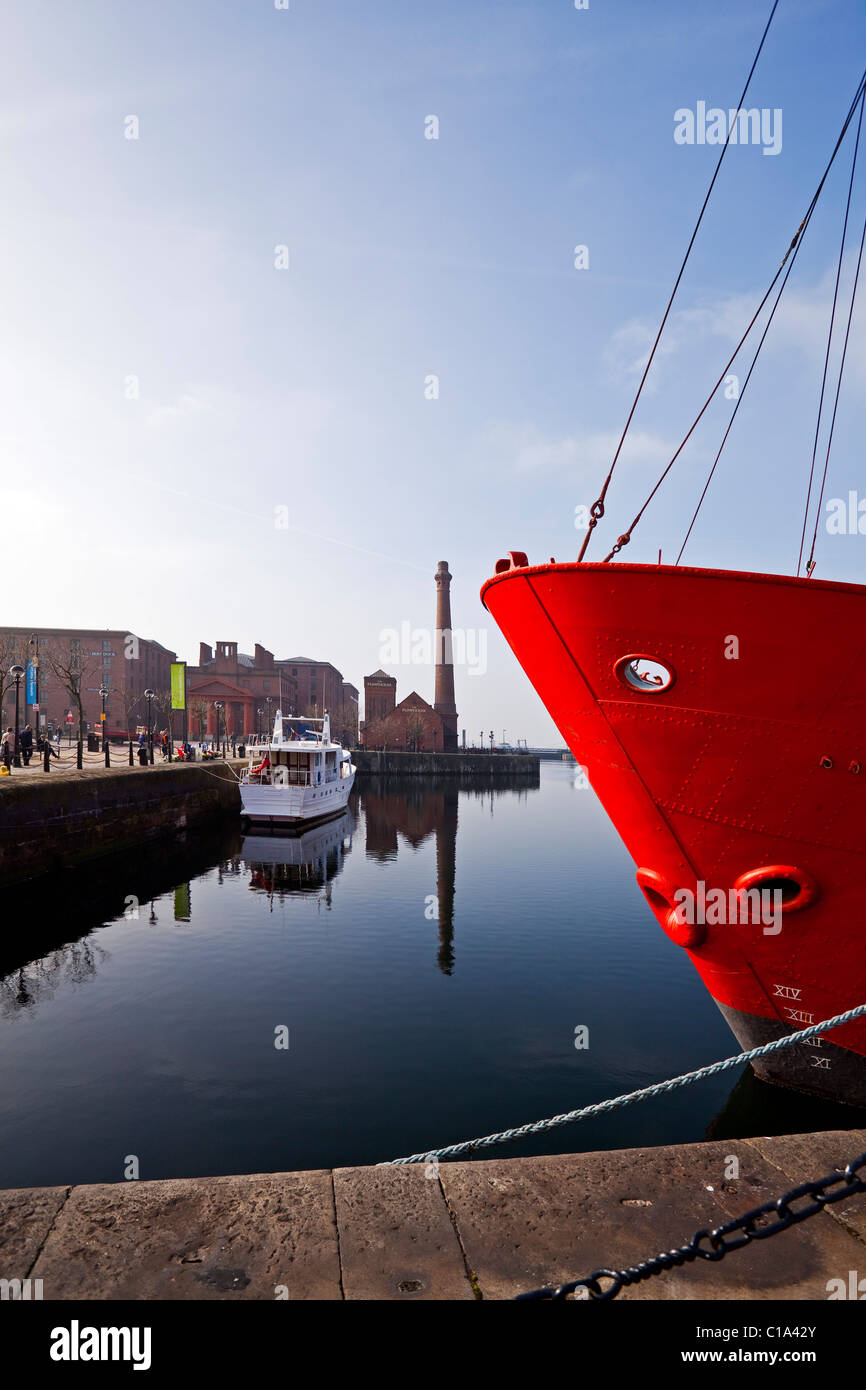 The Albert dock in Liverpool Merseyside UK - Stock Image