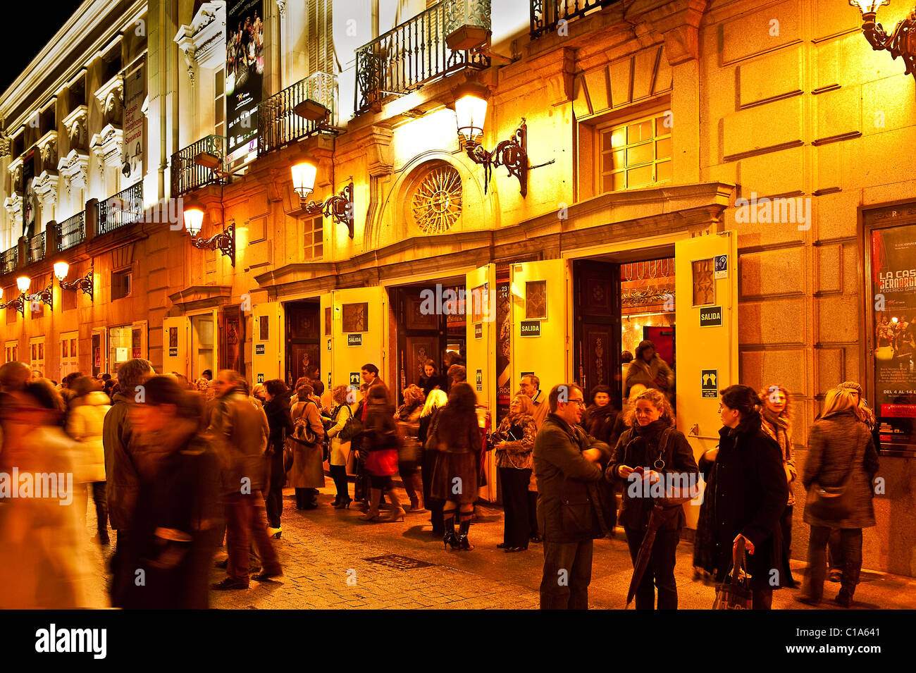 Teatro Espanol, Plaza Santa Ana, Madrid, Spain - Stock Image