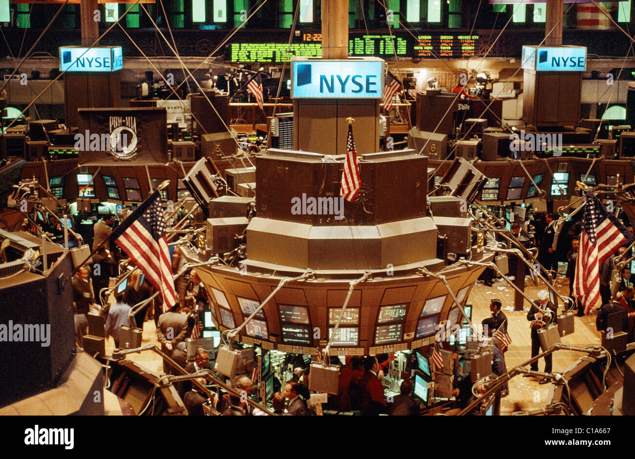 The Trading Floor Of The New York Stock Exchange On Wall