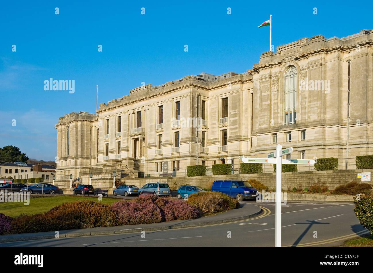 National Library of Wales Aberystwyth Cardiganshire mid Wales UK United Kingdom GB Great Britain - Stock Image
