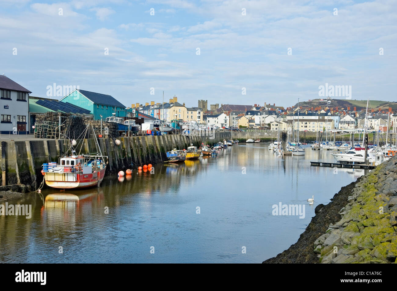 Aberystwyth Marina Cardiganshire mid Wales UK United Kingdom GB Great Britain - Stock Image