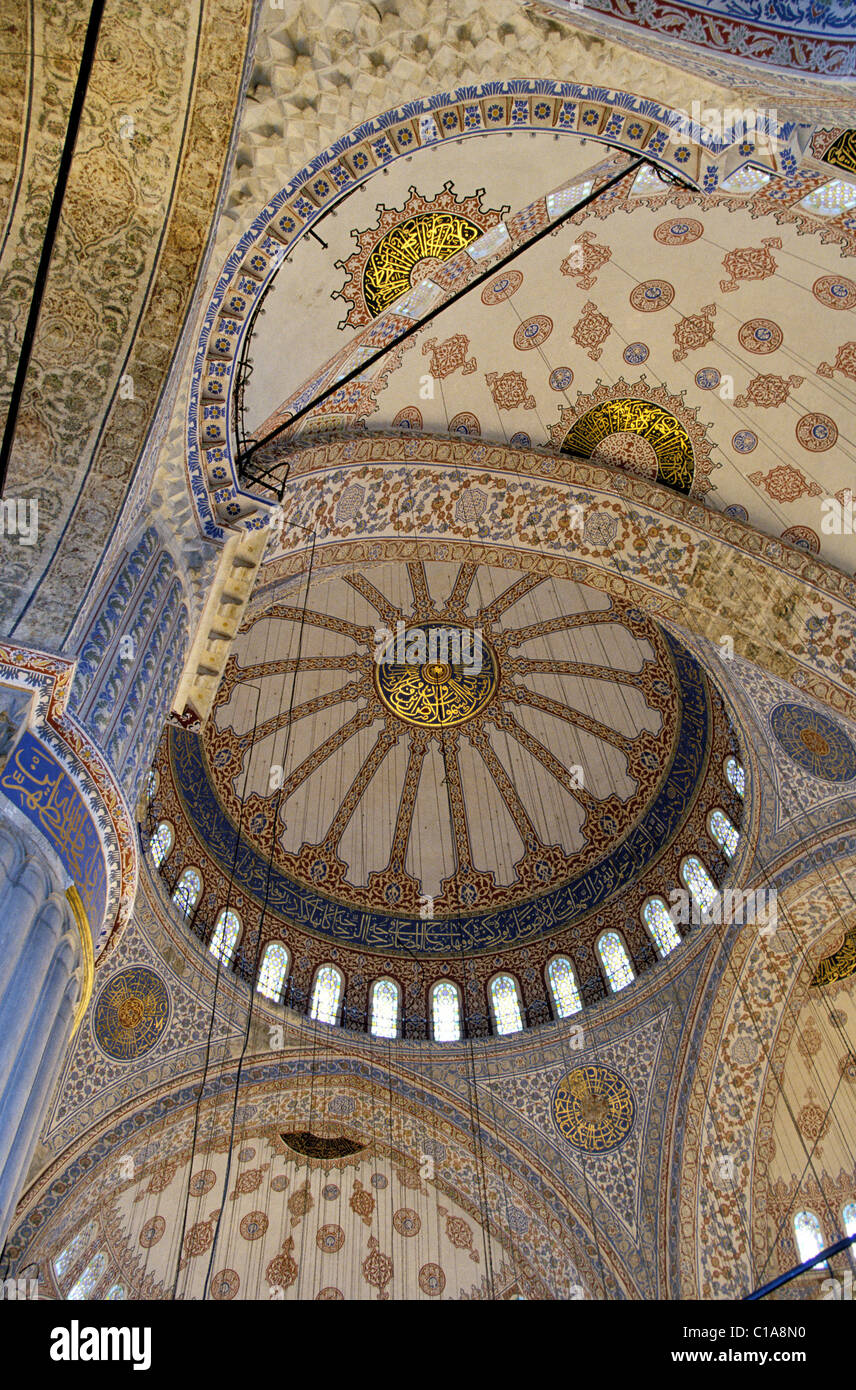 Turkey, Istanbul, cupolas from the Blue mosque - Stock Image
