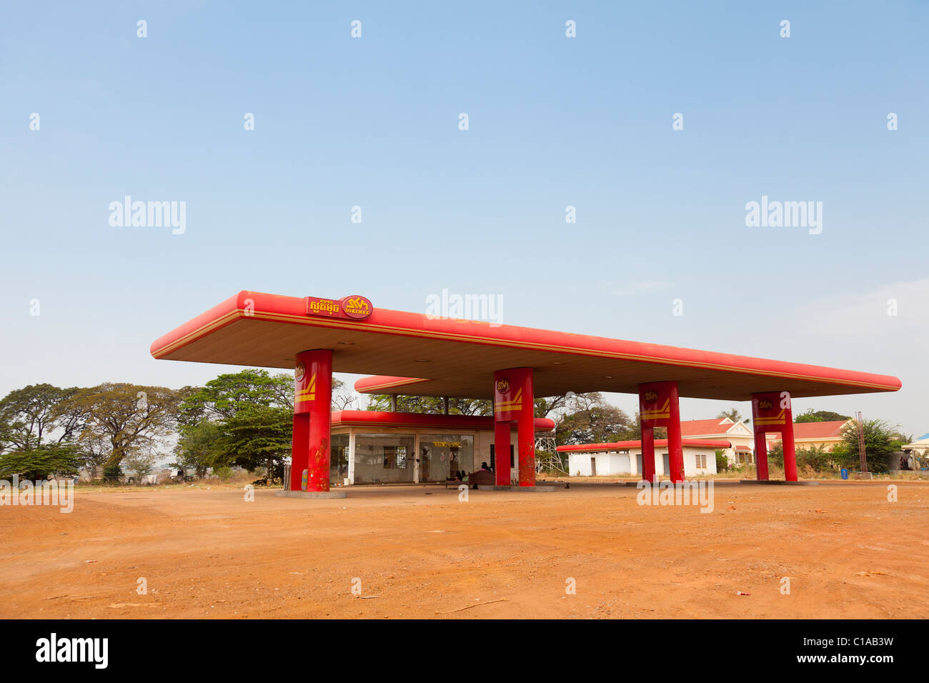 Gas Station Cambodia Stock Photos & Gas Station Cambodia