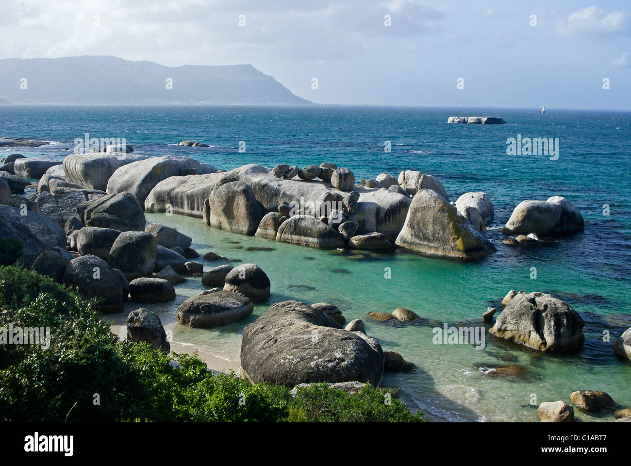 Boulders Beach, Simon's Town, Cape Peninsula, South Africa Stock Photo