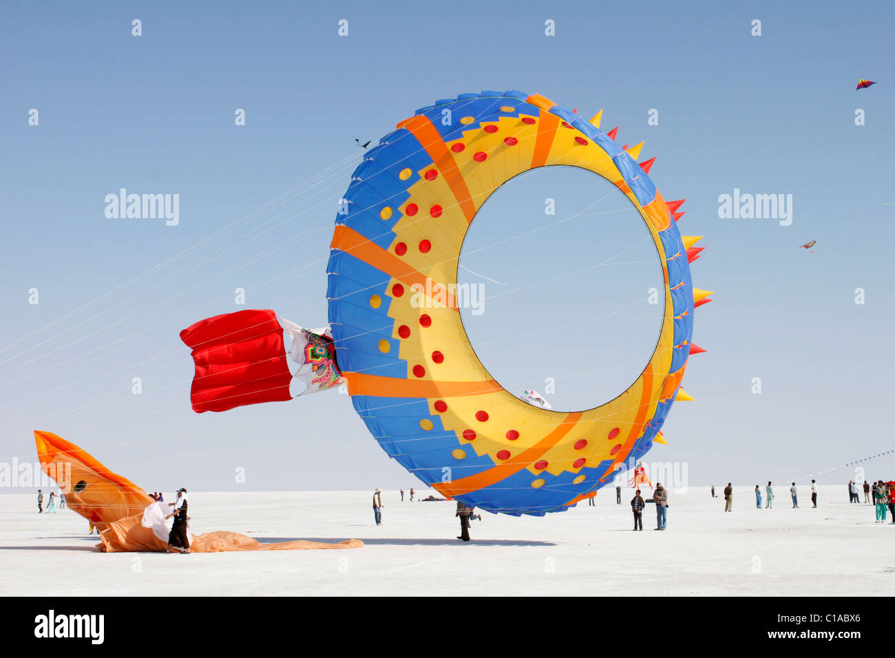 International Kite Festival of Rann of Kutch, Gujarat,India - Stock Image
