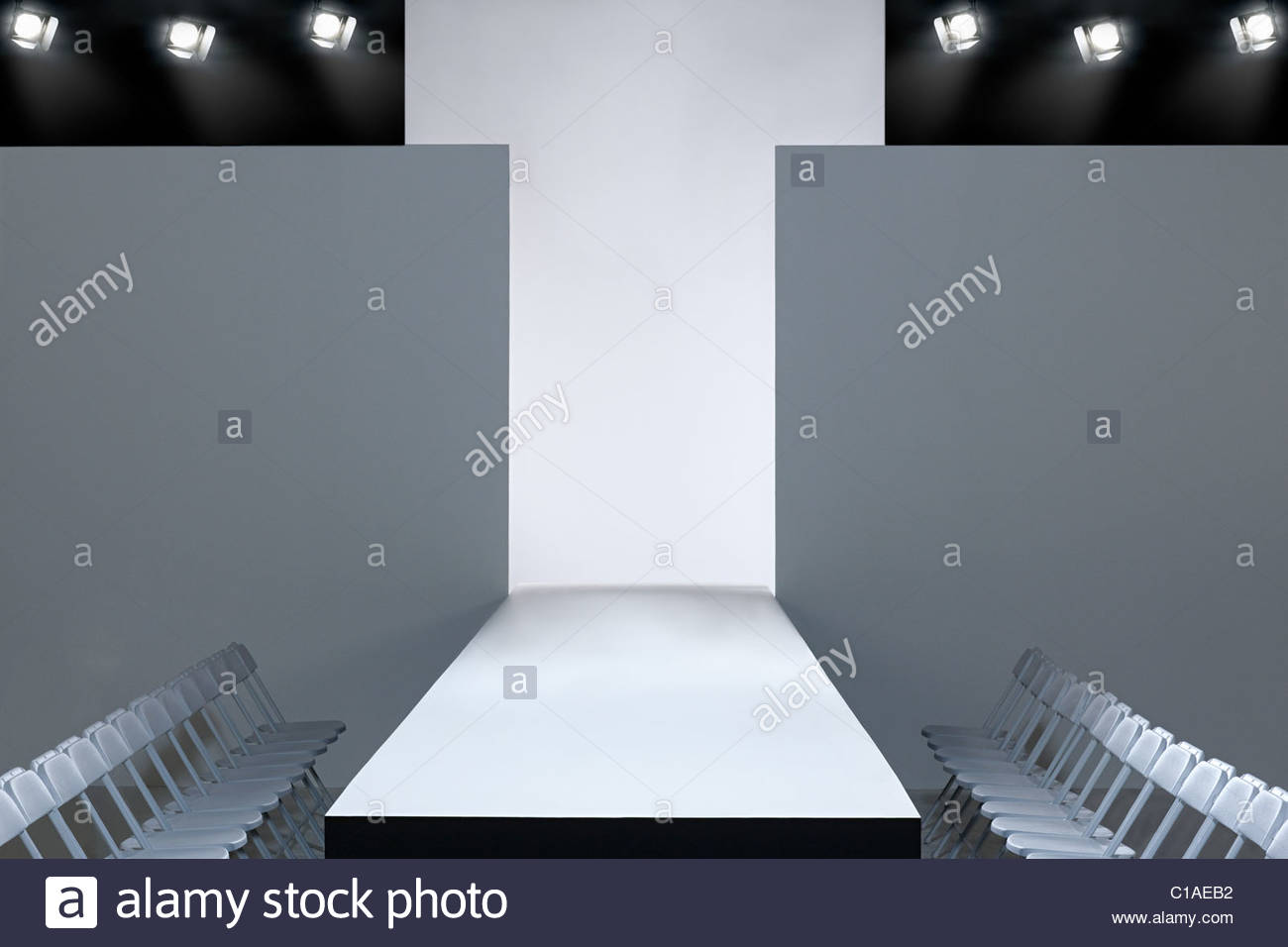 Fashion show and empty catwalk - Stock Image
