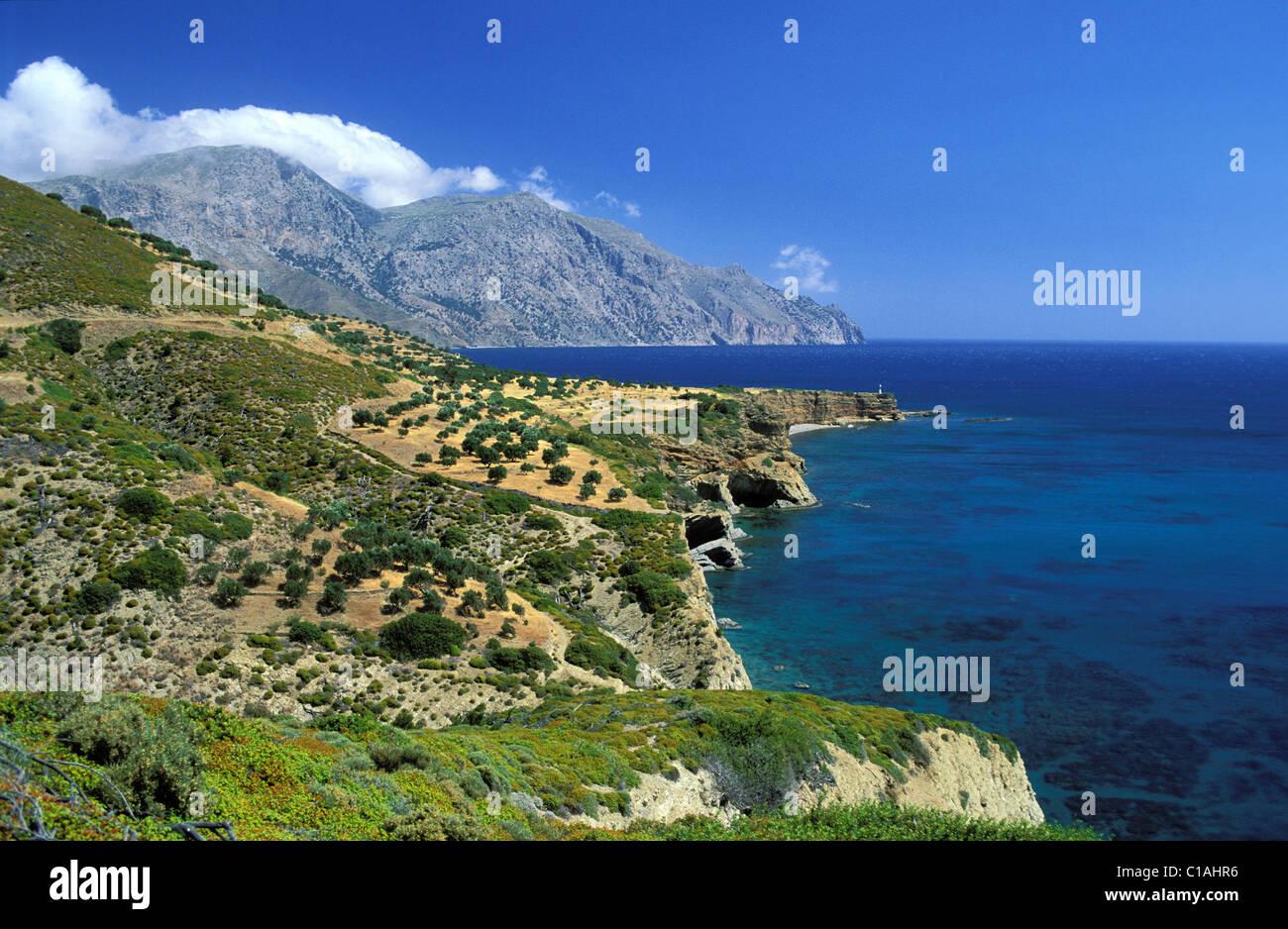 Greece, the Dodecanese, Karpathos Island, the coast Stock Photo