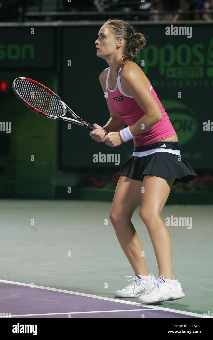 Czech tennis superstar, Iveta Benesova plays against Venus Williams on Day 10 of the Sony Ericsson Open Key Biscayne, - Stock Image