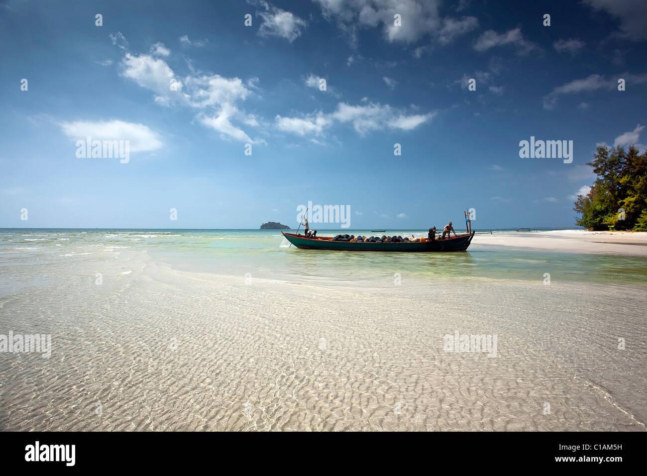Beach, Sihanoukville, Kampong Som, Cambodia, Southeast Asia - Stock Image