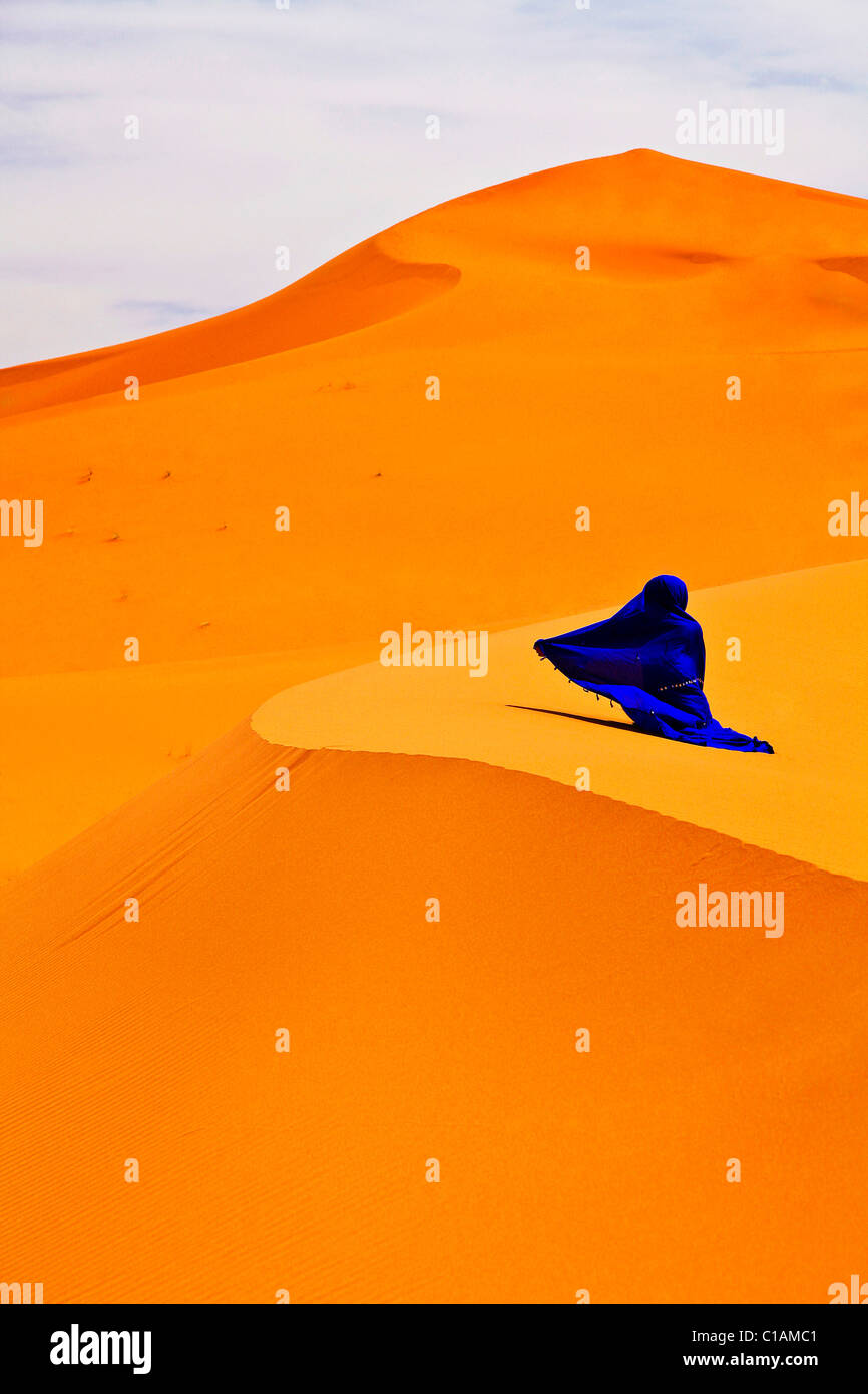 Sahara desert, Morocco, North Africa - Stock Image