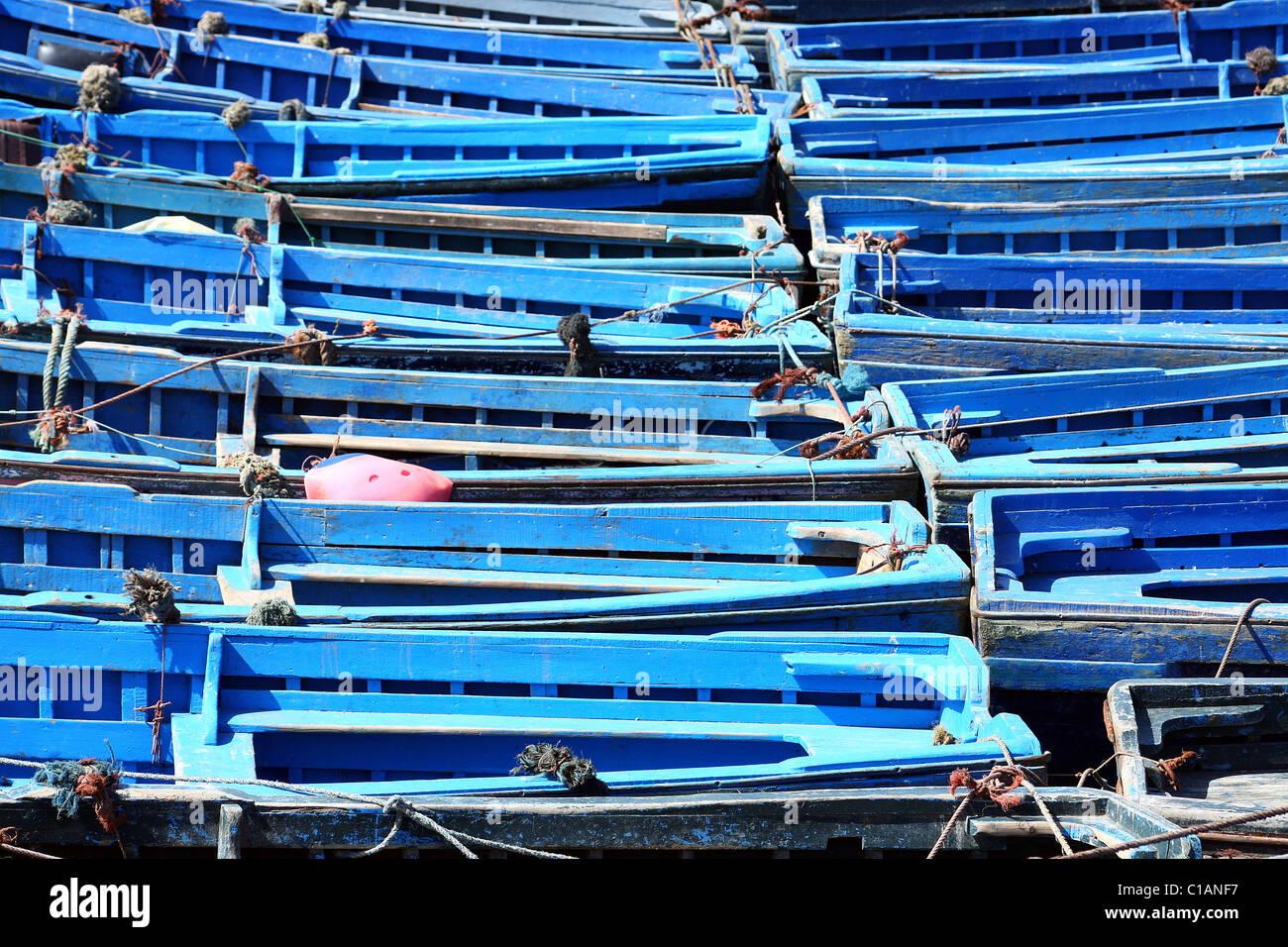 Fishing boat, Essaouira, Morocco, North Africa - Stock Image
