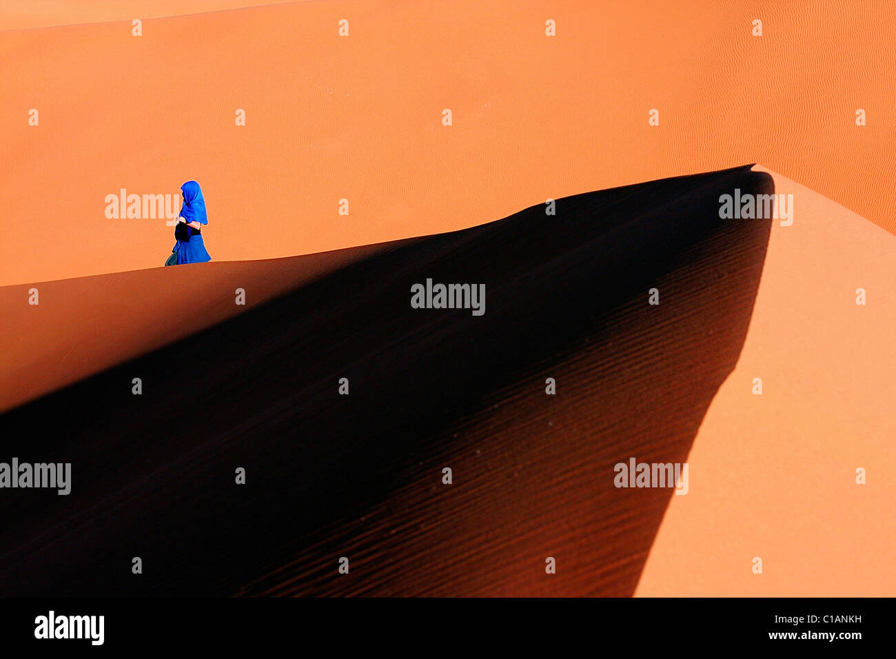 Dunes, Sahara desert, Morocco, North Africa - Stock Image