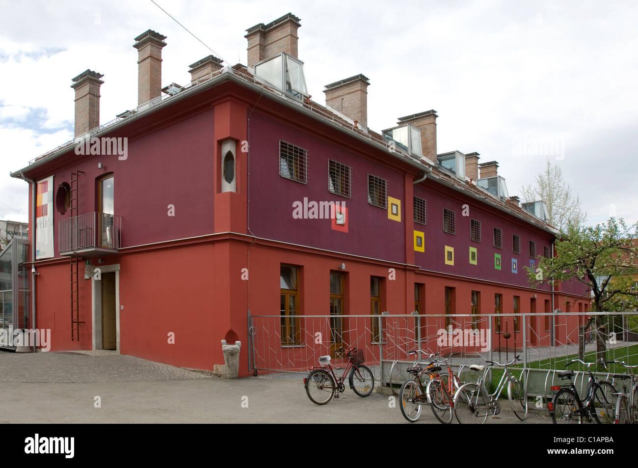 Celica, the old prison now youth hostel, Ljubljana, Slovenia, Europe Stock Photo