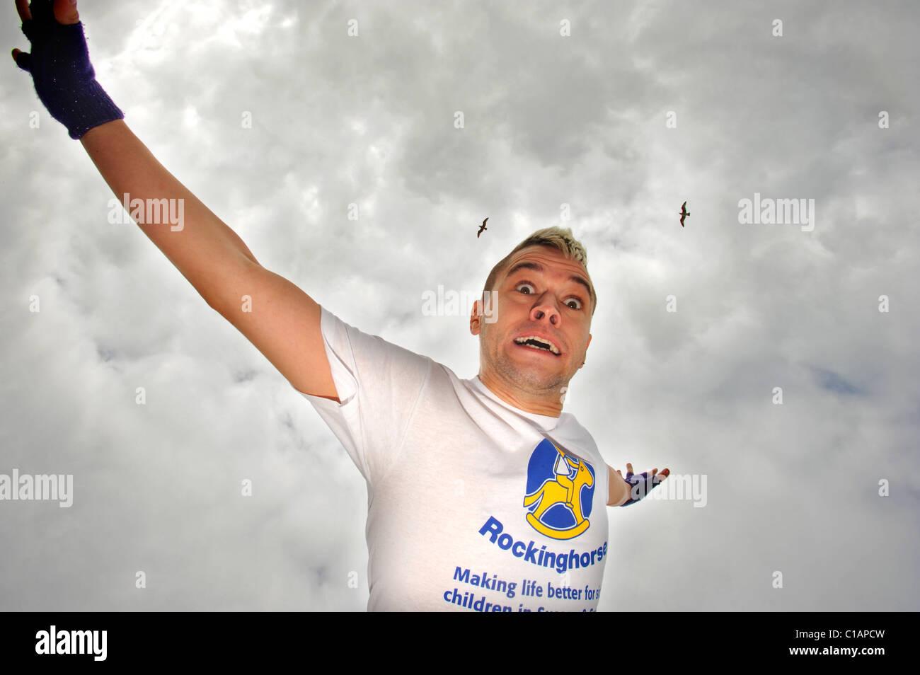 Tourette sufferer Pete Bennett winner of Big Brother 7 - Stock Image