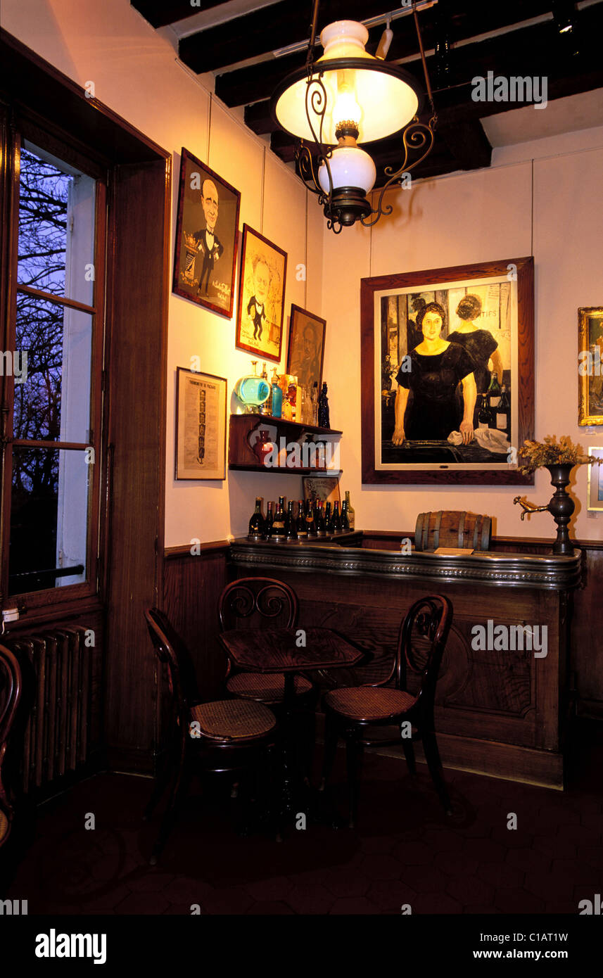 France, Paris, Museum of the old Montmartre district (18th district) - Stock Image