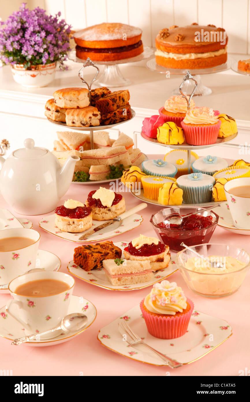 BRITISH AFTERNOON TEA - Stock Image