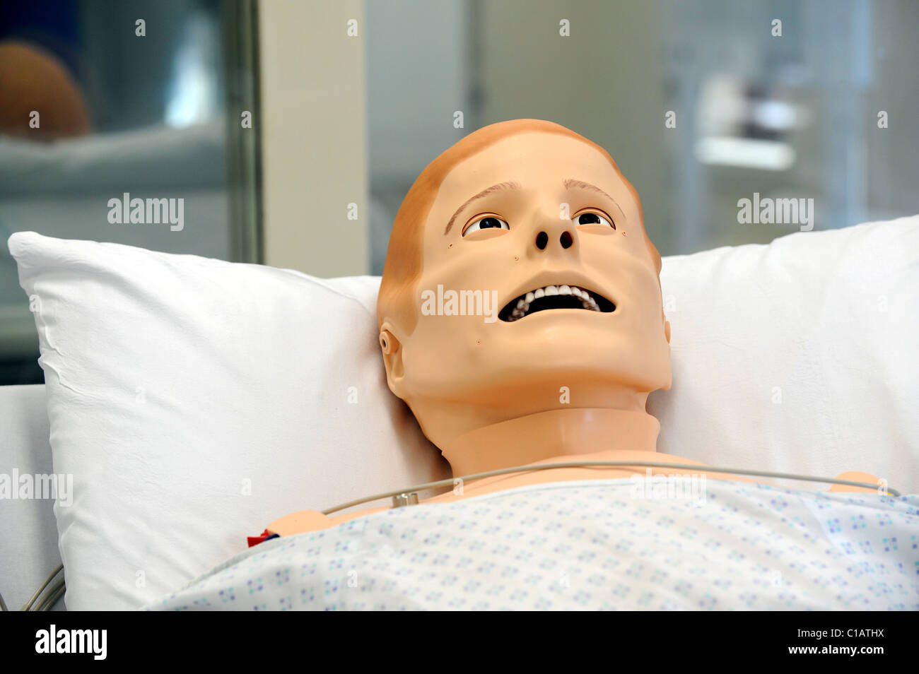 SimMan 3G a new dummy patient that responds like a human inside the new Simulation Suite at Worthing hospital - Stock Image
