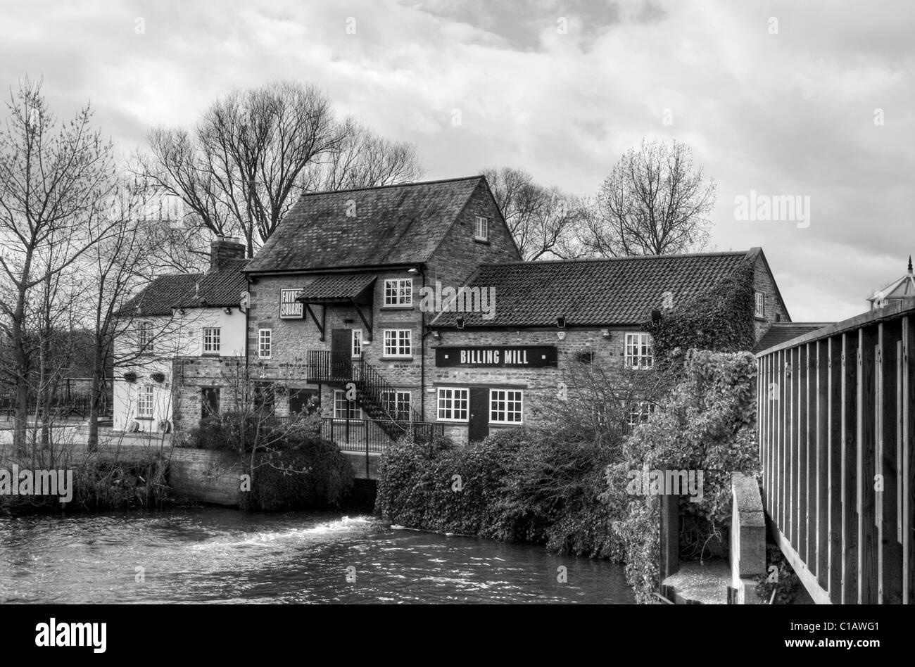 Billing Mill in the grounds of Billing Aquadrome, near Northampton - Stock Image